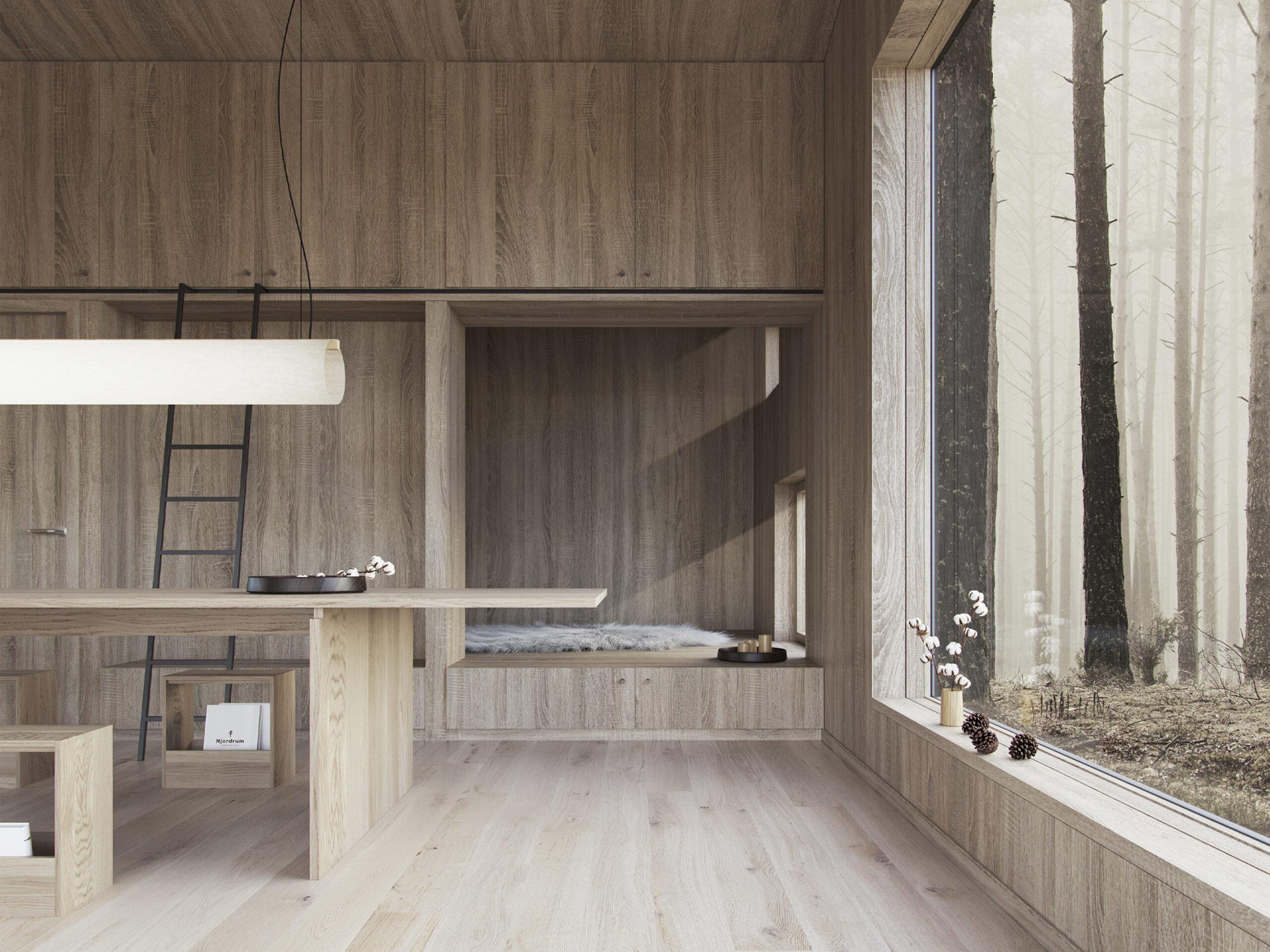 Njordrum - modulære træhuse